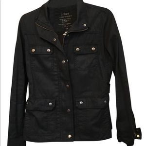 JCrew Black Downtown Field Jacket Size XS
